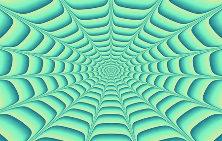dimensions: Green gray concentric spiderweb pattern in business card dimensions