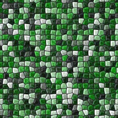 tonality: Abstract emerald green seamless mosaic pattern