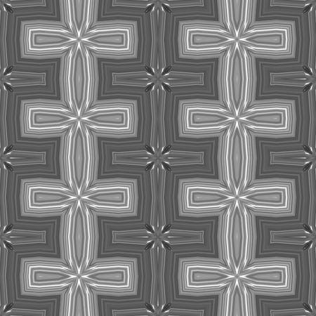 gray: Abstract black white gray kaleidoscopic decorative tile Stock Photo