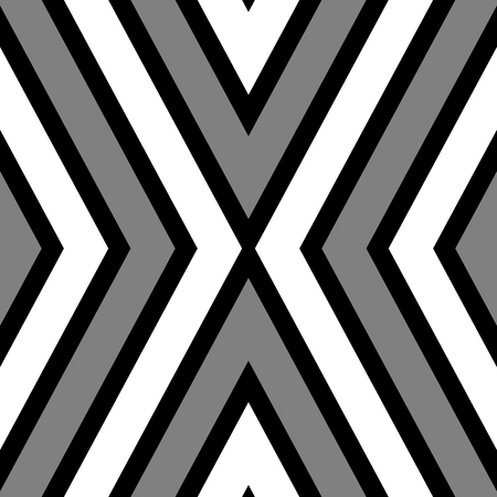 crossover: Abstract seamless crossover striped black white gray pattern tile Stock Photo