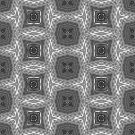secession: Abstract black white gray kaleidoscopic decorative tile Stock Photo