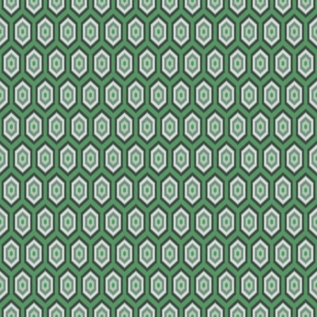 rendered: Dark green seamless tileable hexagonal tiles design - digitally rendered graphic