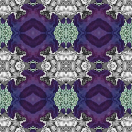 contrast floral: Abstract historical contrast fractal floral lacy seamless pattern