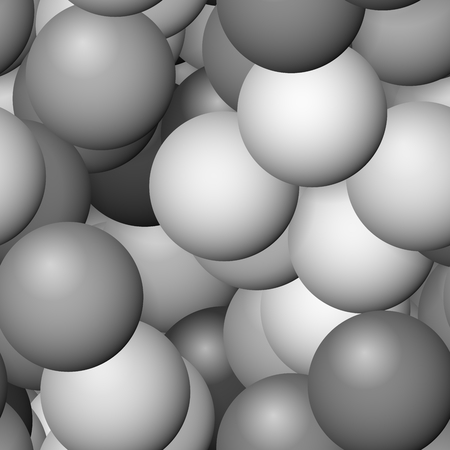 reluctance: Seamless white gray achromatic spheres pattern Stock Photo