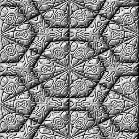 metalized: Silver decorative mirroring regular seamless tile