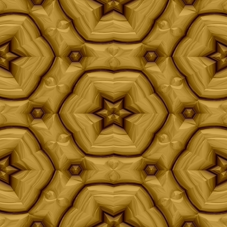 seamless tile: Gold decorative mirroring regular seamless tile