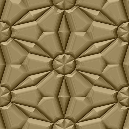 relieved: Gold decorative mirroring regular seamless tile