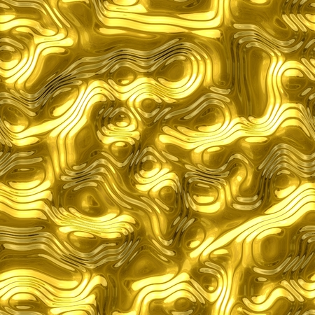 wrinkled face: Abstract seamless pattern with yellow metal surface