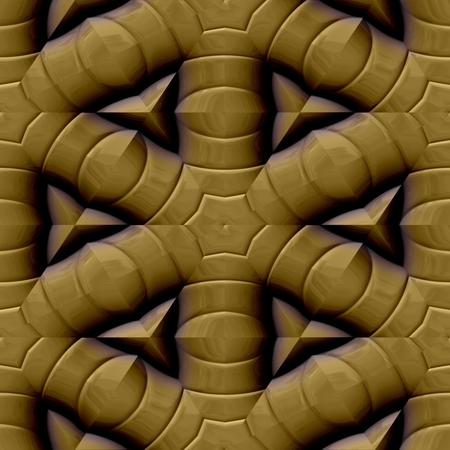 metalized: Gold decorative mirroring regular seamless tile