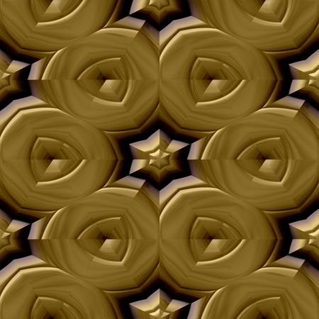 regular: Gold decorative mirroring regular seamless tile