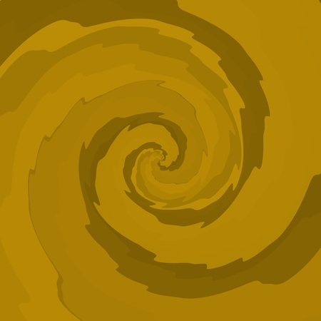 hypnotizing: Yellow ocher swirl with optic illusion effect - graphic design in op art style