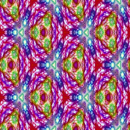 Abstract regular seamless symmetrical kaleidoscopic tile
