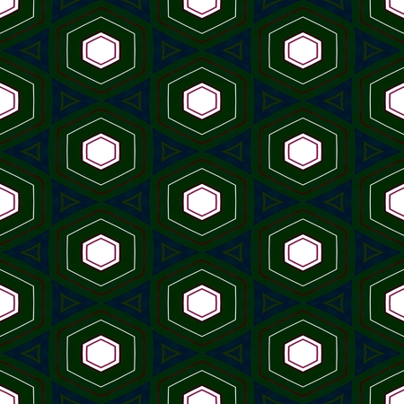 Abstract seamless kaleidoscopic fractal digitally rendered pattern in art nouveau style