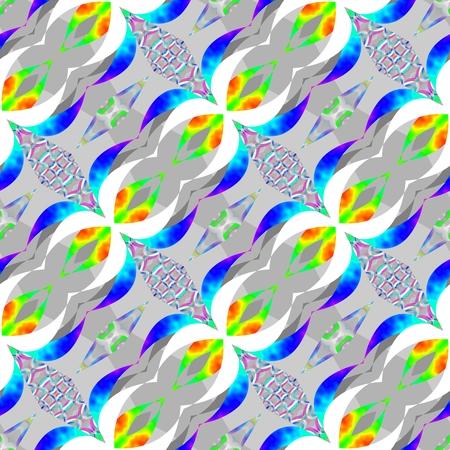 oblique: Rainbow red yellow green blue violet decorative floral oblique background - print able pattern tile Stock Photo