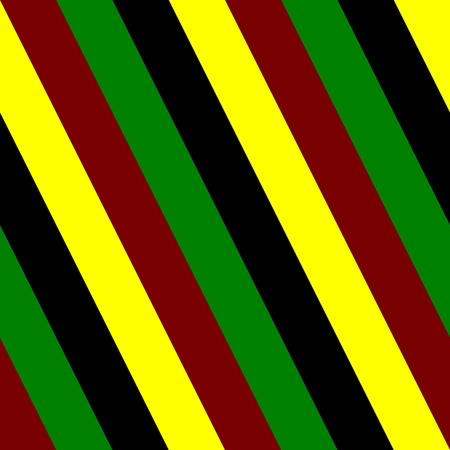 tile able: Abstract tile able black red green yellow striped pattern