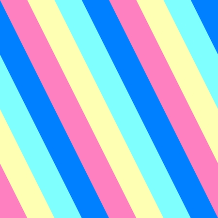 oblique: Oblique blue pink yellow striped pattern Stock Photo