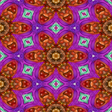 Abstract seamless pattern - creative victorian kaleidoscopic historical pattern - floral gold red purple blue background - seamless fashion-able design Stock Photo