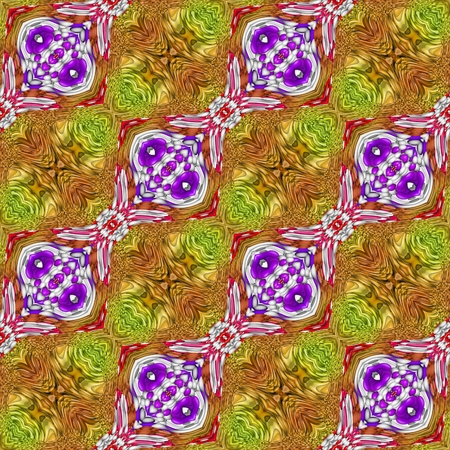 mirroring: Abstract decorative floral mirroring repeat beautiful colored design in retro palace or castle style Stock Photo
