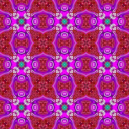 mirroring: Abstract decorative floral mirroring repeat baeutiful colored design in retro palace or castle style Stock Photo