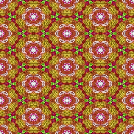 tapestry: Abstract background, tapestry, carpet, rug - seamless decorative kaleidoscopic pattern on square tile - digitally rendered raster design Stock Photo