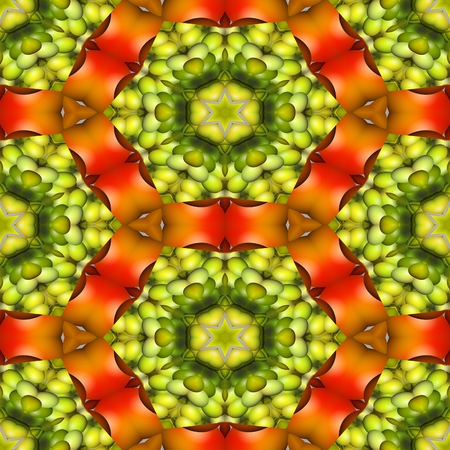 sidebar: Kaleidoscopic decorative floral fractal arabian tile - digitally rendered pattern Stock Photo