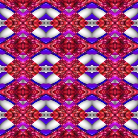 secession: Kaleidoscopic decorative floral fractal arabian tile - digitally rendered pattern Stock Photo