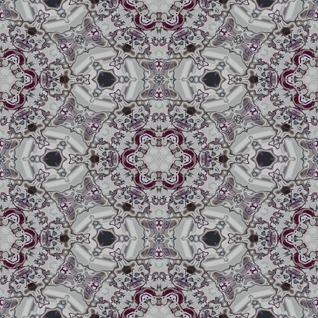 historical: Floral decorative historical oriental arabian cashmere fractal seamless pattern Stock Photo