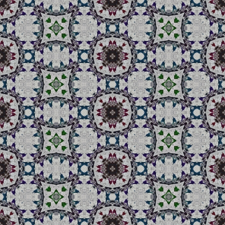 cashmere: Floral decorative historical oriental arabian cashmere fractal seamless pattern Stock Photo