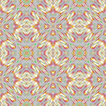 muted: Abstract seamless digitally kaleidoscopic oriental historical beige gray red muted pattern