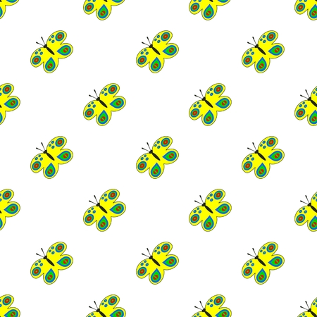 diagonally: Seamless diagonally pattern with colorful butterflies