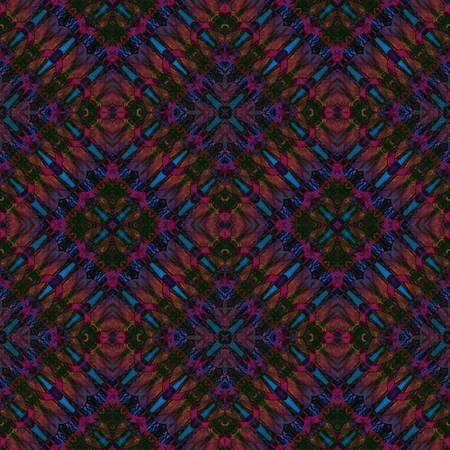 mirroring: Abstract seamless kaleidoscopic brown green blue purple background