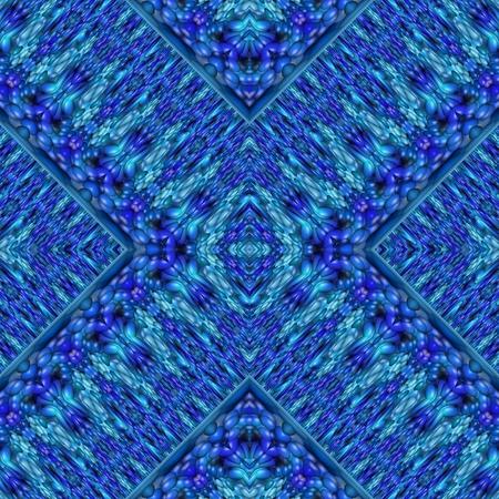 regular: Abstract monochrome regular kaleidoscope seamless blue pattern Stock Photo