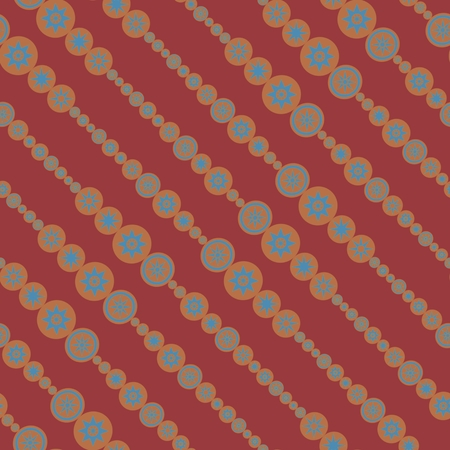 midwinter: Abstract seamless decorative raster pattern with sun or star shapes
