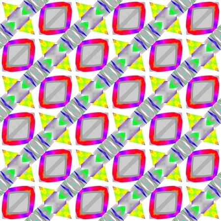 avantgarde: Abstract checkered diagonally striped avant-garde op art vibrant shades seamless pattern