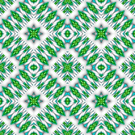 rhombic: Abstract seamless green white rhombic kaleidoscopic background