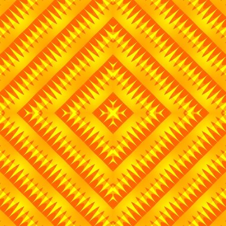 secession: Yellow orange geometric regular seamless pattern Stock Photo