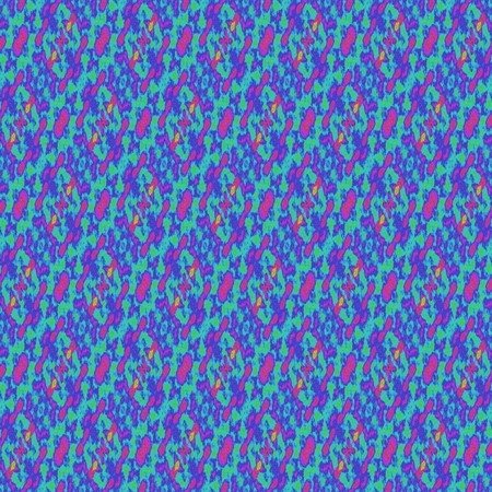 tonality: Blue seamless retro pattern - textured background with a repeating kaleidoscopic motif on square tile Stock Photo