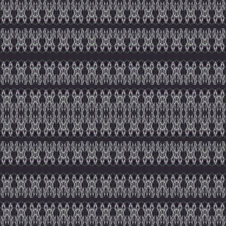 filigree: Abstract seamless filigree lacy black white gray horizontally striped pattern Stock Photo