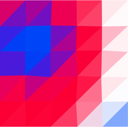 Abstract blue red white low poly triangular business background in op art style. Colors suitable for the occasion of Independence Day. Illustration