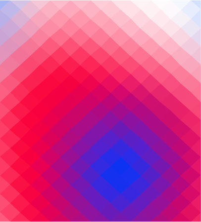 Abstract blue red white low poly squared business background in op art style. Colors suitable for the occasion of Independence Day.