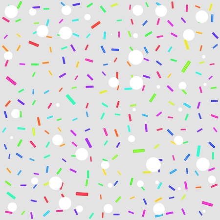 ashy: Abstract gray background with brightly colored rectangles and white circles. Stock Photo