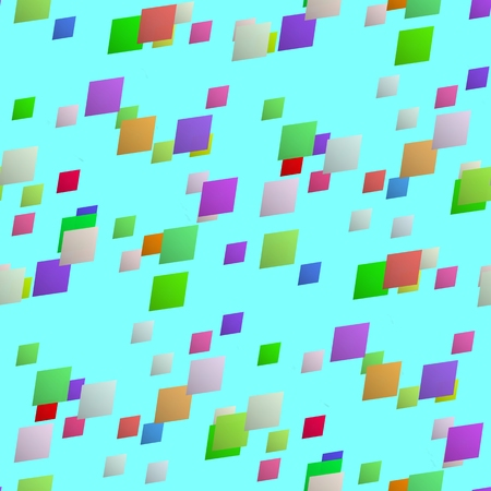 reminiscent: Abstract seamless pattern of colorful diamonds on a solid-colored background reminiscent of flying a kite at the autumn sky. Stock Photo