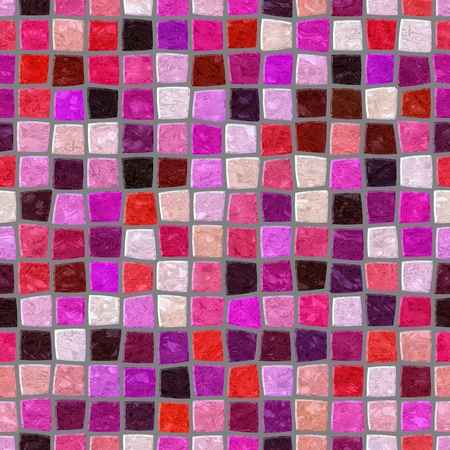 mosaic tiles: Red pink purple retro mosaic pattern - seamless digitally rendered design with small glossy tiles texture