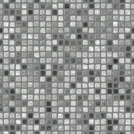 tiles texture: Black white grey retro mosaic pattern - seamless digitally rendered design with small glossy tiles texture