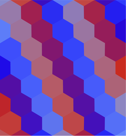 tonality: Abstract low poly brick red orange blue mosaic vertically background