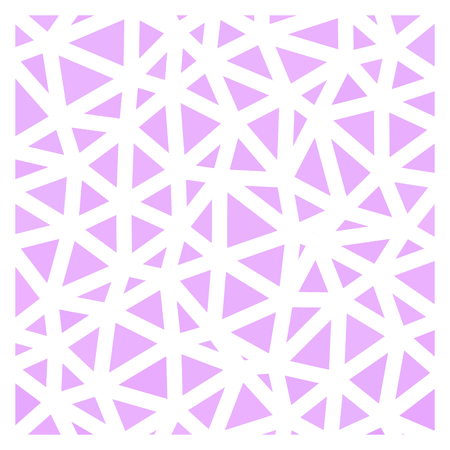 Abstract fine pink geometric low polygonal pattern with white countour