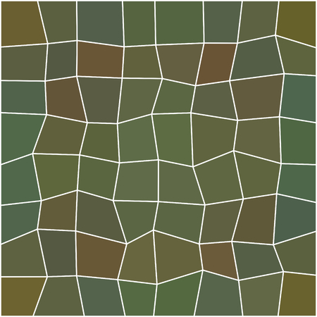 ocher: Abstract ocher green olive khaki geometric low polygonal pattern with thin white countour