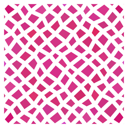 trapezium: Abstract pink geometric low polygonal pattern with thick white countour Illustration