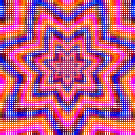 Floral mesh grid tile composed of small colorful points