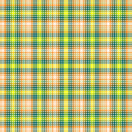 tonality: Abstract colorful low poly background - tartan pattern composed of small circle tiles